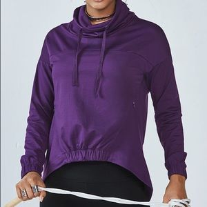 NEW FABLETICS Medium Purple Europa Pullover